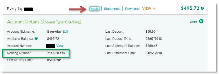 Citizens Bank Online Banking Screenshot