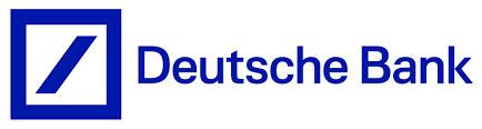 Deutsche Bank Logo is blue